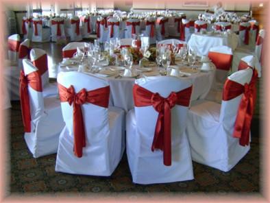 Crimson Sashes U0026 Custom Chair Covers @ The Admiral Baker Club House